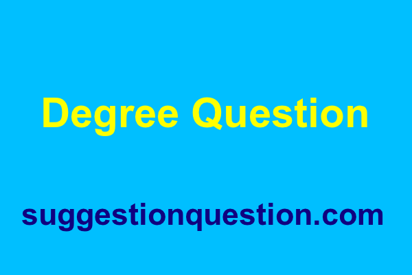 Degree Question 2018