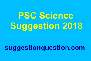 PSC Science Suggestion 2018