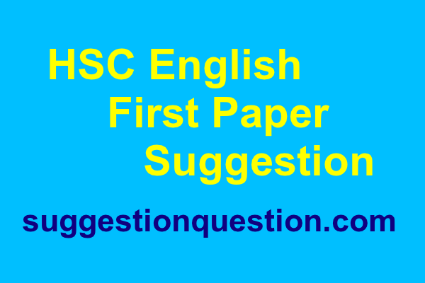 HSC English First Paper Suggestion 2019