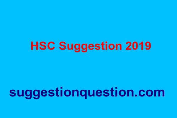 HSC Suggestion 2019