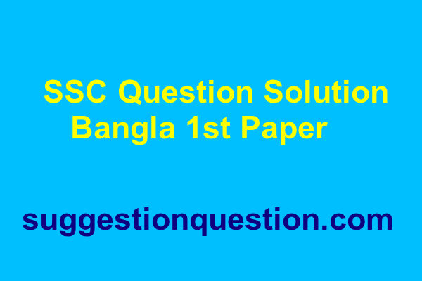 SSC Bangla 1st Paper Question Solution 2019