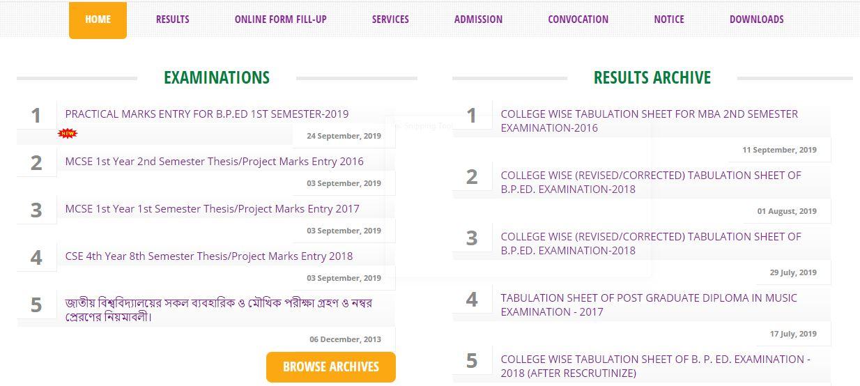 Degree Result 2019