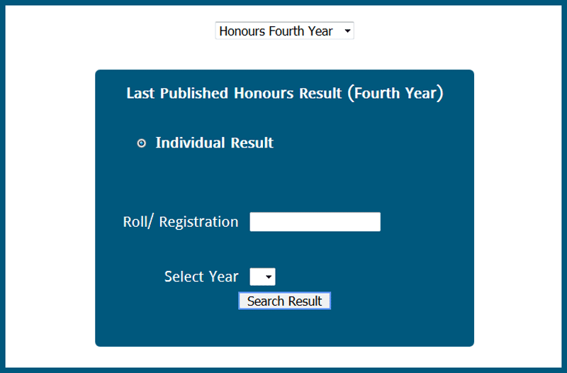 nu.ac.bd/results Honours Result 2019