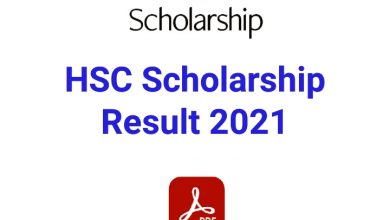 HSC Scholarship Result 2021 PDF Download All Board Britti Result 2020